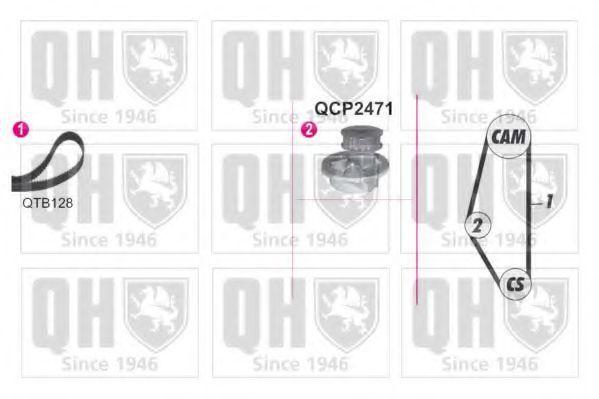 Водяной насос + комплект зубчатого ремня QUINTON HAZELL QBPK9029