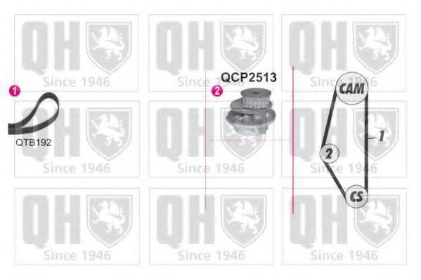 Водяной насос + комплект зубчатого ремня QUINTON HAZELL QBPK9049