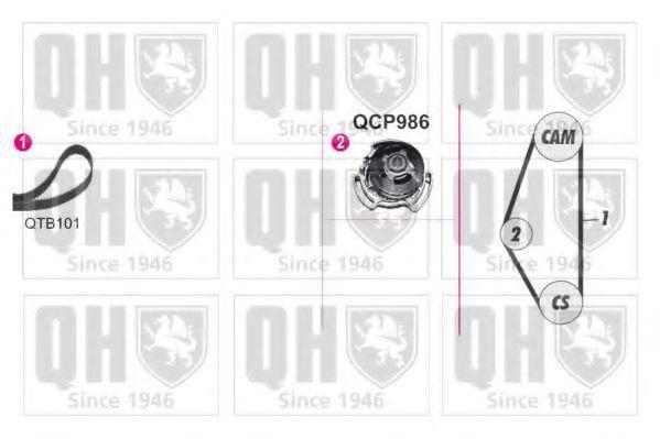 Водяной насос + комплект зубчатого ремня QUINTON HAZELL QBPK9089
