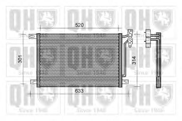 Конденсатор, кондиционер QUINTON HAZELL QCN139