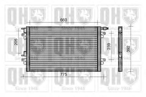 Конденсатор, кондиционер QUINTON HAZELL QCN330