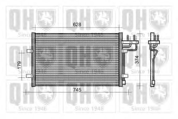 Конденсатор, кондиционер QUINTON HAZELL QCN398