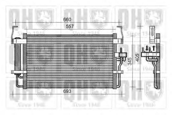 Конденсатор, кондиционер QUINTON HAZELL QCN433