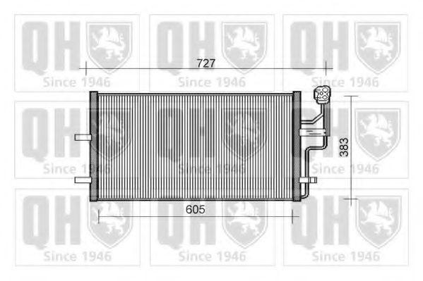 Конденсатор, кондиционер QUINTON HAZELL QCN440