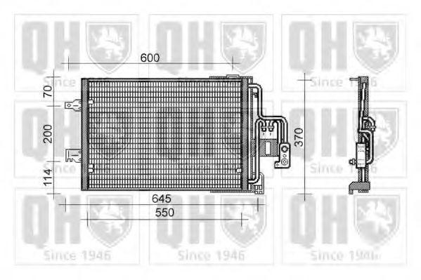 Конденсатор, кондиционер QUINTON HAZELL QCN454