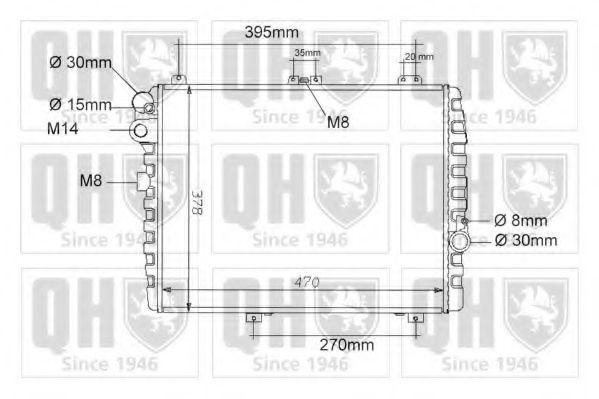Радиатор, охлаждение двигателя QUINTON HAZELL QER1000