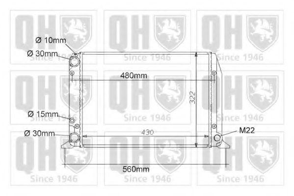 Радиатор, охлаждение двигателя QUINTON HAZELL QER1005