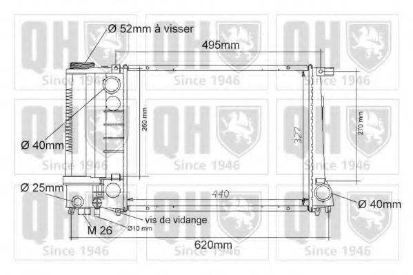 Радиатор, охлаждение двигателя QUINTON HAZELL QER1019