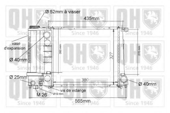 Радиатор, охлаждение двигателя QUINTON HAZELL QER1020