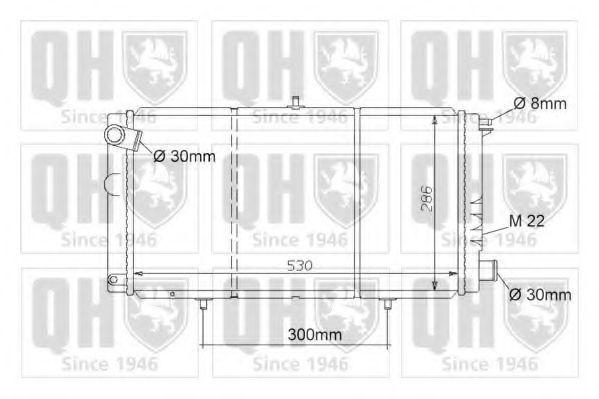 Радиатор, охлаждение двигателя QUINTON HAZELL QER1038