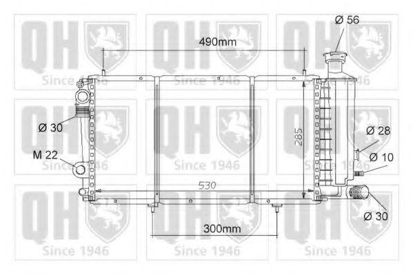 Радиатор, охлаждение двигателя QUINTON HAZELL QER1039
