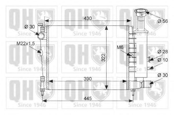Радиатор, охлаждение двигателя QUINTON HAZELL QER1040