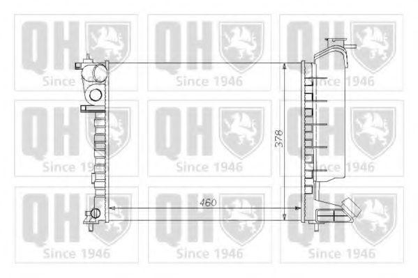 Радиатор, охлаждение двигателя QUINTON HAZELL QER1045