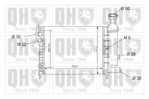 Радиатор, охлаждение двигателя QUINTON HAZELL QER1049