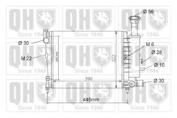 Радиатор, охлаждение двигателя QUINTON HAZELL QER1050