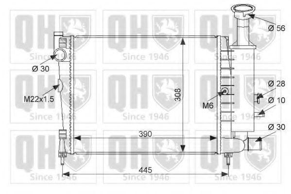 Радиатор, охлаждение двигателя QUINTON HAZELL QER1051