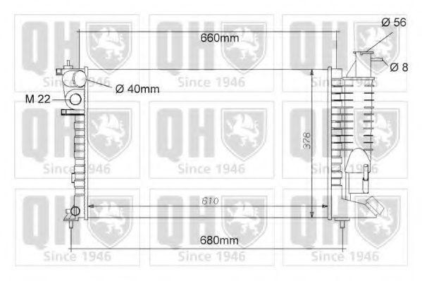Радиатор, охлаждение двигателя QUINTON HAZELL QER1054