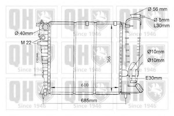 Радиатор, охлаждение двигателя QUINTON HAZELL QER1055