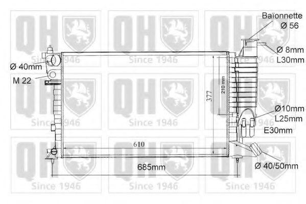 Радиатор, охлаждение двигателя QUINTON HAZELL QER1056