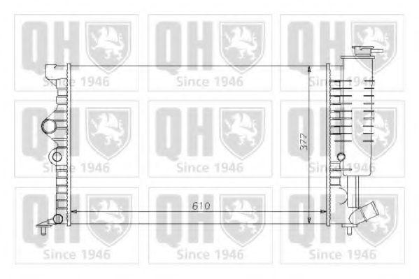 Радиатор, охлаждение двигателя QUINTON HAZELL QER1058