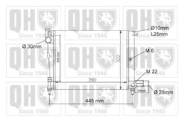 Радиатор, охлаждение двигателя QUINTON HAZELL QER1062