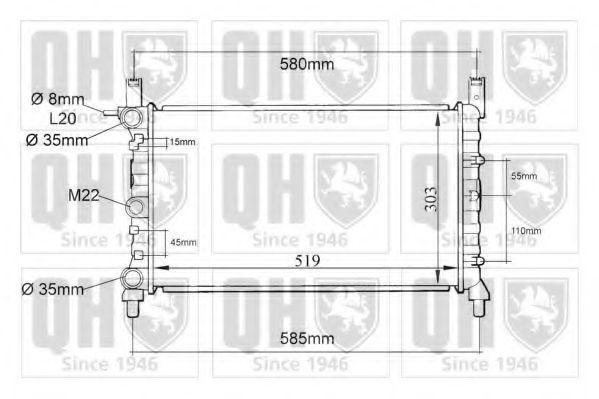 Радиатор, охлаждение двигателя QUINTON HAZELL QER1077