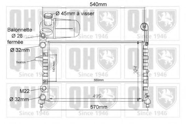 Радиатор, охлаждение двигателя QUINTON HAZELL QER1083