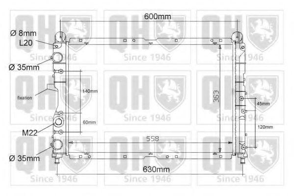 Радиатор, охлаждение двигателя QUINTON HAZELL QER1085