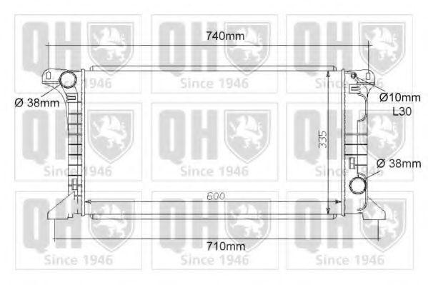 Радиатор, охлаждение двигателя QUINTON HAZELL QER1100