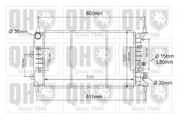 Радиатор, охлаждение двигателя QUINTON HAZELL QER1109