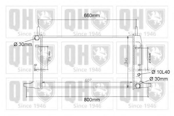 Радиатор, охлаждение двигателя QUINTON HAZELL QER1115