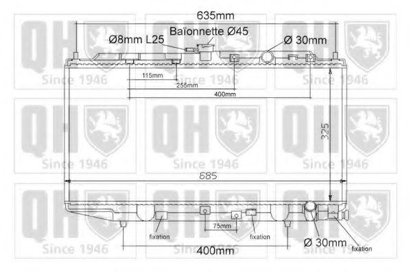 Радиатор, охлаждение двигателя QUINTON HAZELL QER1124
