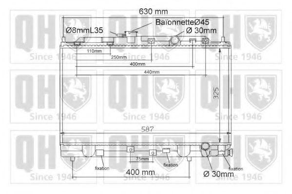 Радиатор, охлаждение двигателя QUINTON HAZELL QER1127