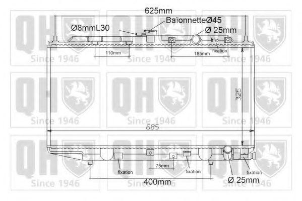Радиатор, охлаждение двигателя QUINTON HAZELL QER1128