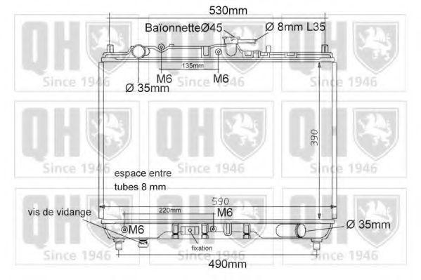 Радиатор, охлаждение двигателя QUINTON HAZELL QER1152