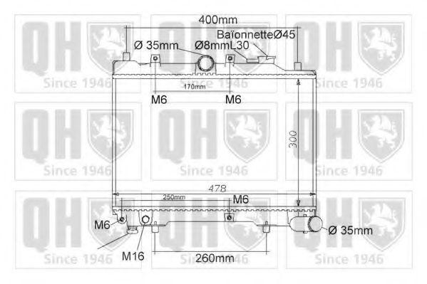 Радиатор, охлаждение двигателя QUINTON HAZELL QER1173