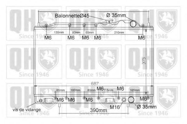 Радиатор, охлаждение двигателя QUINTON HAZELL QER1202