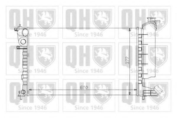 Радиатор, охлаждение двигателя QUINTON HAZELL QER1264