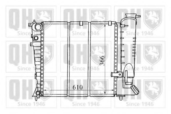 Радиатор, охлаждение двигателя QUINTON HAZELL QER1280