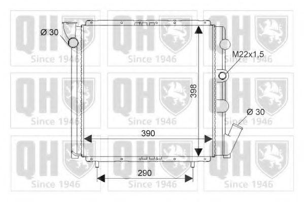 Радиатор, охлаждение двигателя QUINTON HAZELL QER1332