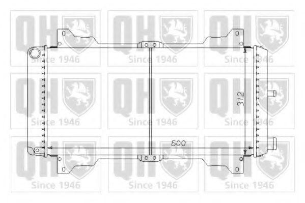 Радиатор, охлаждение двигателя QUINTON HAZELL QER1433