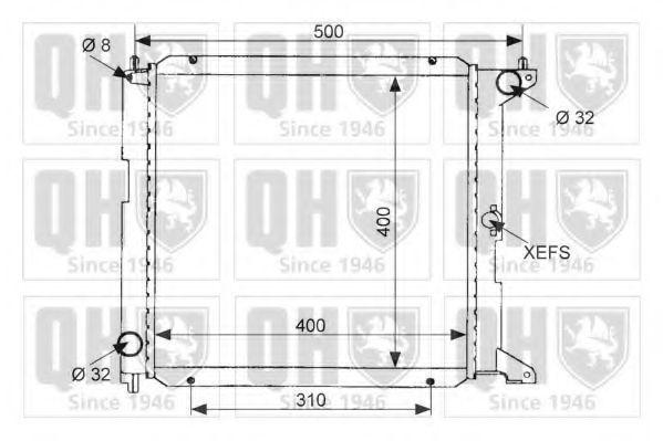 Радиатор, охлаждение двигателя QUINTON HAZELL QER1463
