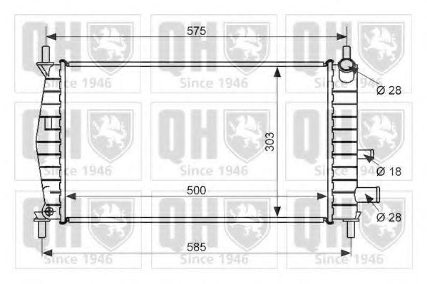 Радиатор, охлаждение двигателя QUINTON HAZELL QER1471