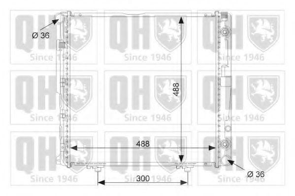 Радиатор, охлаждение двигателя QUINTON HAZELL QER1486