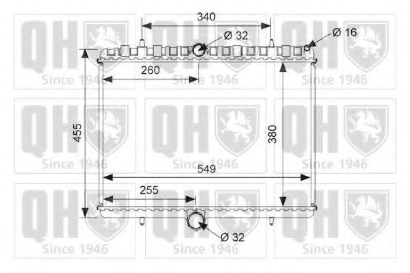 Радиатор, охлаждение двигателя QUINTON HAZELL QER1489