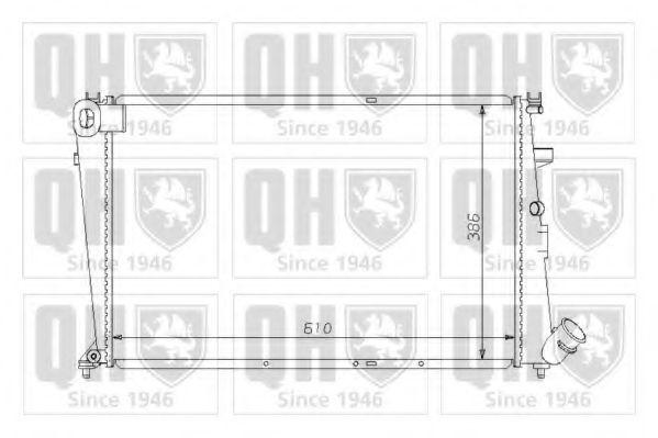 Радиатор, охлаждение двигателя QUINTON HAZELL QER1502