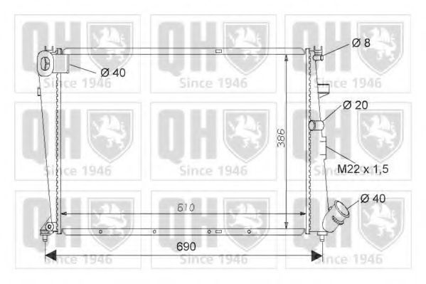 Радиатор, охлаждение двигателя QUINTON HAZELL QER1503
