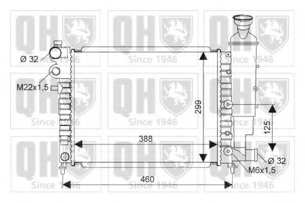 Радиатор, охлаждение двигателя QUINTON HAZELL QER1505