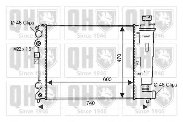 Радиатор, охлаждение двигателя QUINTON HAZELL QER1514