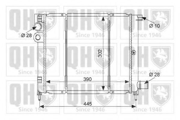 Радиатор, охлаждение двигателя QUINTON HAZELL QER1515